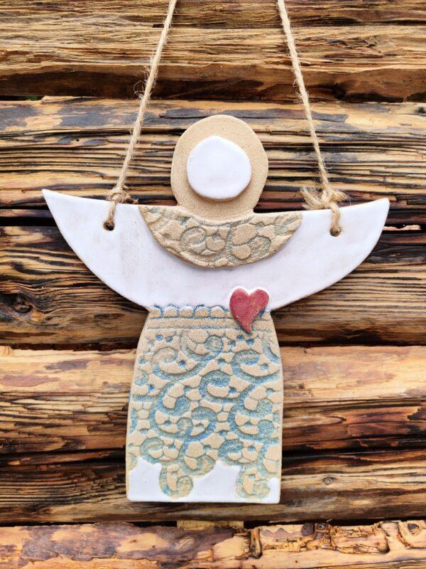 Anioł ceramiczny