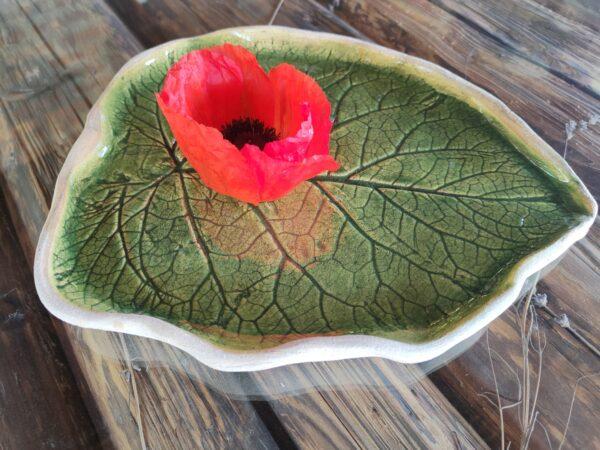 Patera zielona liść łopianu