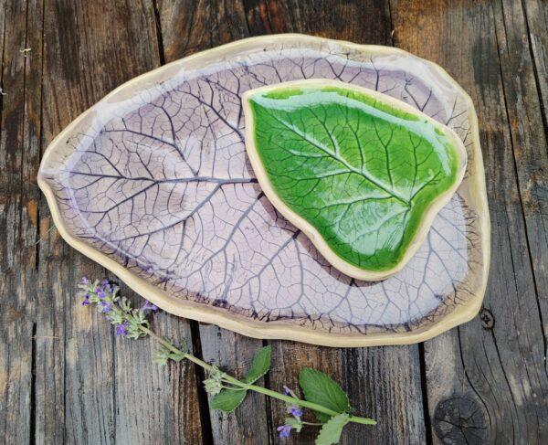 Patera liść w kolorze lawendy
