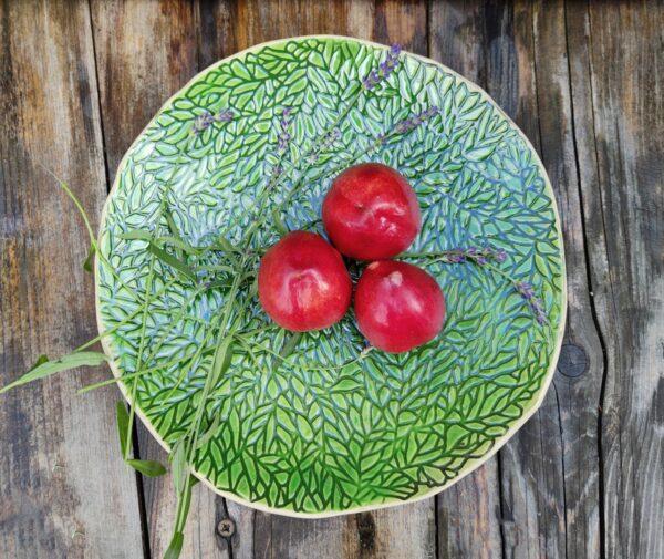 Patera zielona, ornament